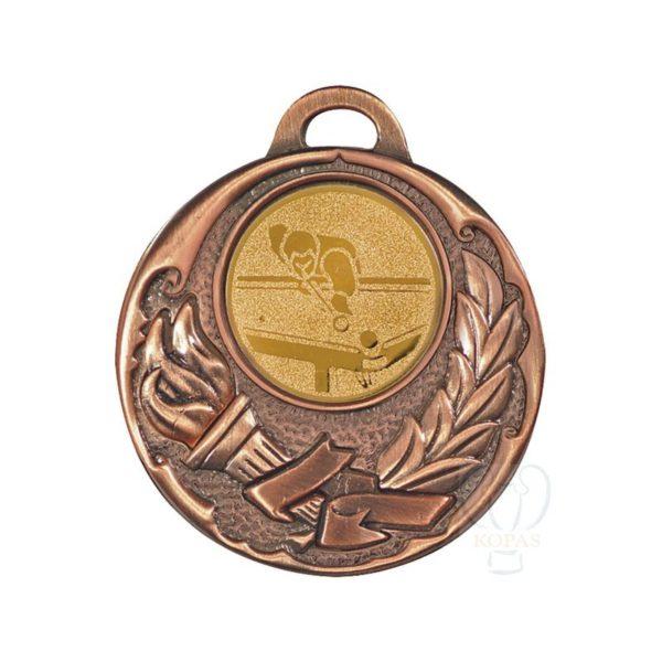 Medalla fundición antorcha