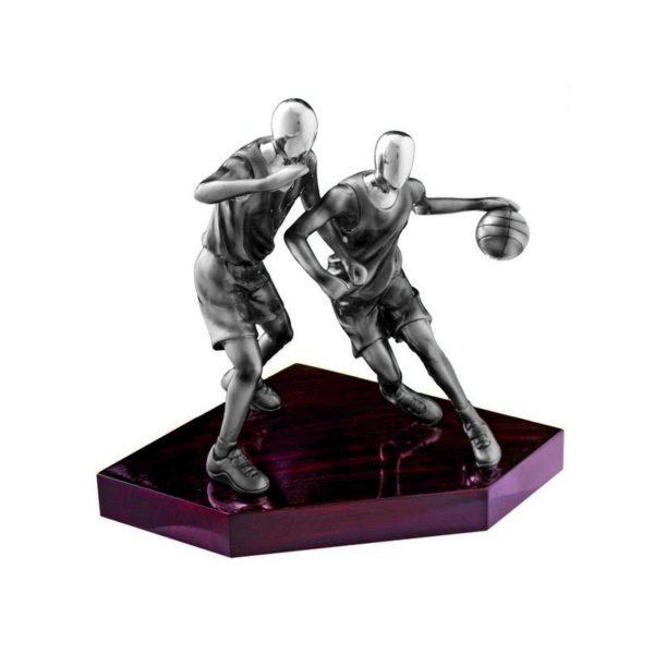 Trofeo baloncesto resina