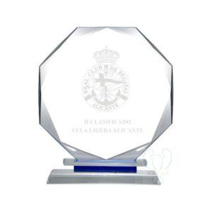 Trofeo de cristal biselado