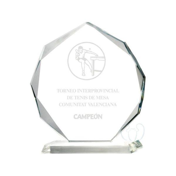 Trofeo cristal biselado alta calidad