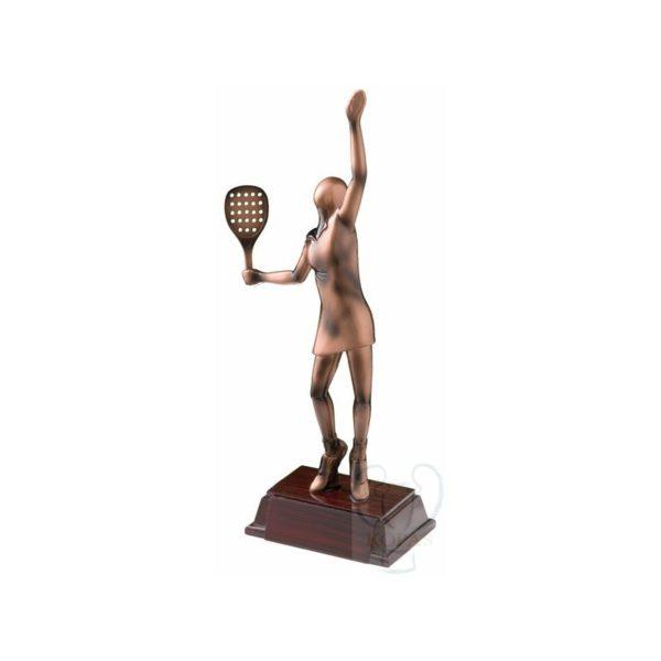Trofeo padel femenino resina