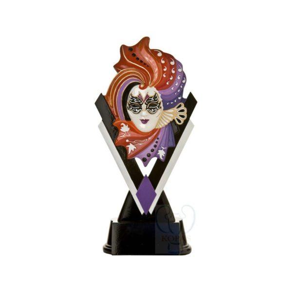 Trofeo carnaval , disfraces, teatro en resina decorada