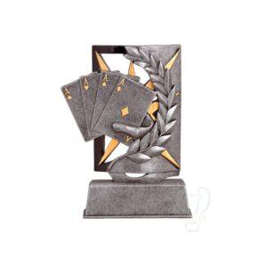 Trofeo poker resina económico