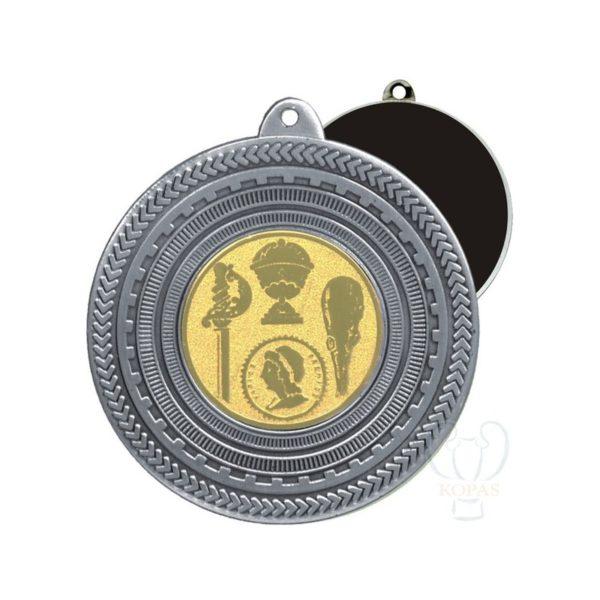 Medalla estampada plata