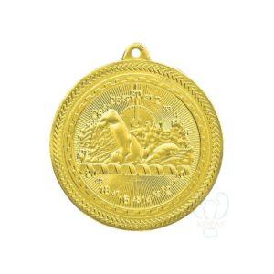 Medalla deportiva natación