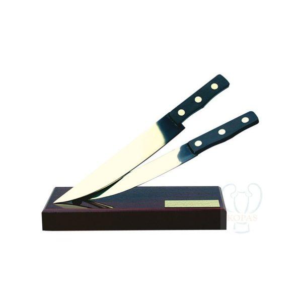 Trofeo de cocina cuchillos