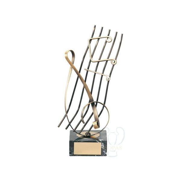 Trofeo de música pentagrama
