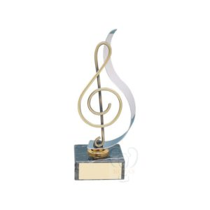 Trofeo de música clave de sol